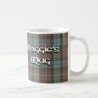 De Mok van Maggie in geruite Schotse wollen stof