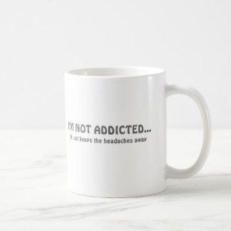 de mok vette letter van de koffieverslaafde