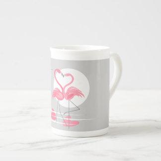 De mokbeen China van de Liefde van de flamingo Theekop