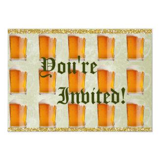 De Mokken Prost van het Bier van Oktoberfest 12,7x17,8 Uitnodiging Kaart