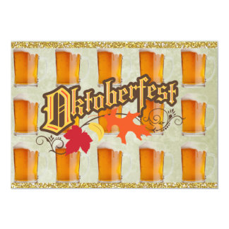 De Mokken van het Bier van Oktoberfest 12,7x17,8 Uitnodiging Kaart