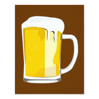 De mokuitnodiging van het bier 10,8x13,9 uitnodiging kaart