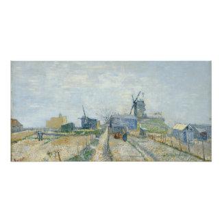 De Molens van Montmartre en Moestuinen door Van Perfect Poster