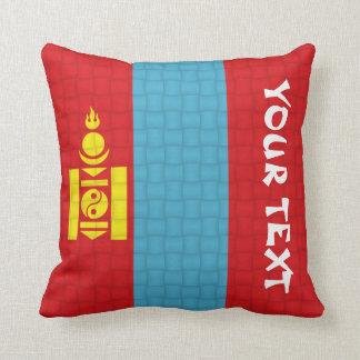 De Mongoolse Vlag van Mongolië: VOEG TEKST TOE Sierkussen