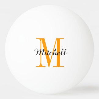 De monogram Gepersonaliseerde Ballen van de Pingpongballen