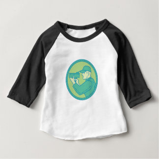De MonoLijn van de Cirkel van het Pistool van de Baby T Shirts