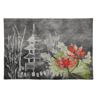 De Mooie Aziatische bloem van Placemat