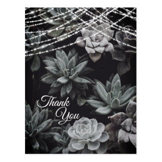 De mooie Betoverende Lichten Succulents danken u Briefkaart