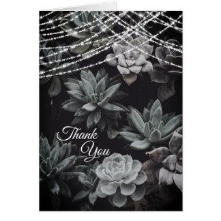 De mooie Betoverende Lichten Succulents danken u Kaart