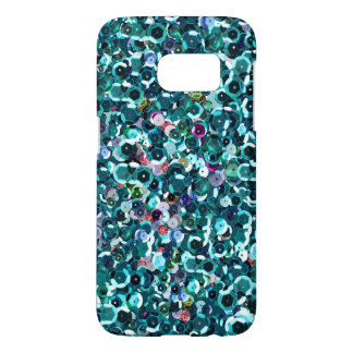 De mooie Blauwe Fonkeling Bling van Lovertjes Samsung Galaxy S7 Hoesje