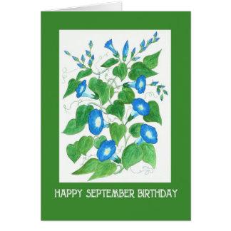 De mooie Blauwe Verjaardag van September van de Briefkaarten 0