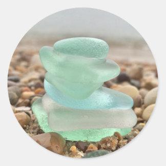 De mooie Blauwgroen zee-Glas Stickers van het