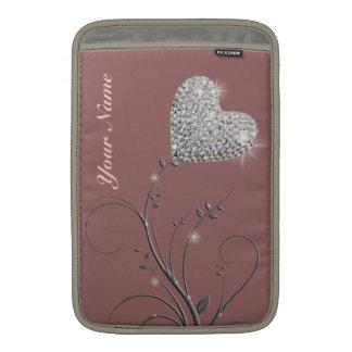 de mooie bloem van het hartjuweel beschermhoes voor MacBook air