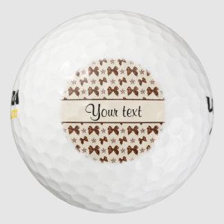 De mooie Bruine Bogen van het Satijn Golfballen