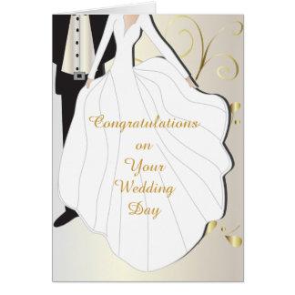 De mooie Dag van het Huwelijk Wenskaart