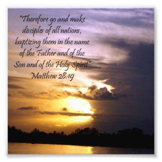 De mooie Druk van het 28:19 van Matthew van het Ve Foto Afdruk