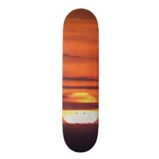 De mooie Foto van de Zonsondergang Skate Deck