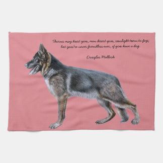 De mooie handdoek van de Duitse herder met Gedicht