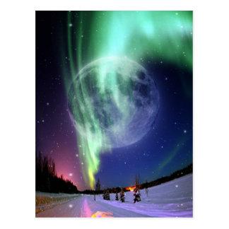 De Mooie heldere grote volledige blauwe maan van Briefkaart