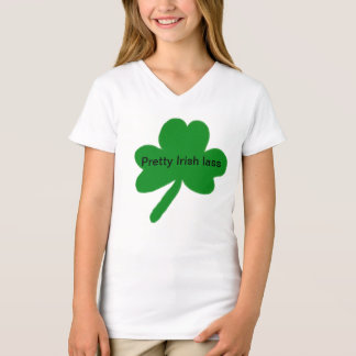 De mooie Ierse T-shirt van de Klaver Lass