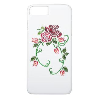 De mooie In reliëf gemaakte Rozen van het Glas iPhone 8/7 Plus Hoesje