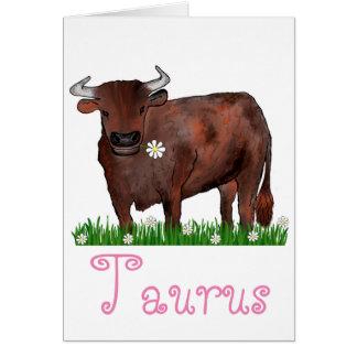 De mooie Kaart van de Stier van de Stier en van de