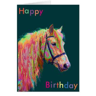 De mooie Kaart van de Verjaardag van het Pony van
