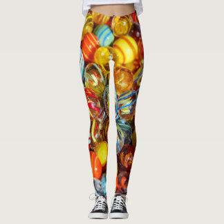 de mooie kleurrijke foto van glas marmeren ballen leggings