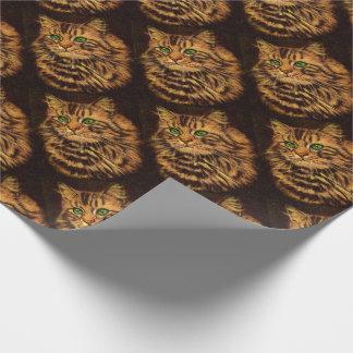 de mooie langharige druk van de gestreepte katkat inpakpapier