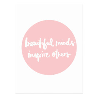 De mooie meningen inspireren mensen Inspirerend Briefkaart