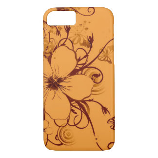 de mooie oranje bloemen wervelen vectorart. iPhone 7 hoesje