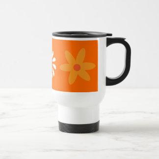 De mooie oranje & witte mok van de bloemenreis