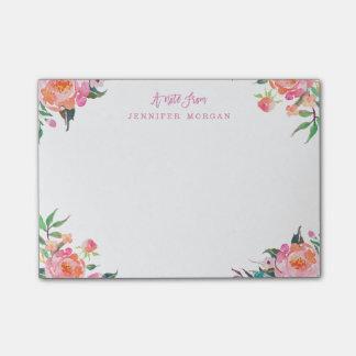 De mooie Paarse Roze Bloemen van de Waterverf Post-it® Notes