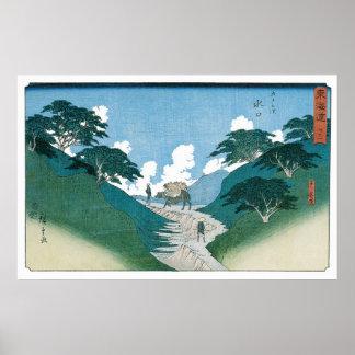 De mooie Pijnbomen, door Utagawa Hiroshige Poster