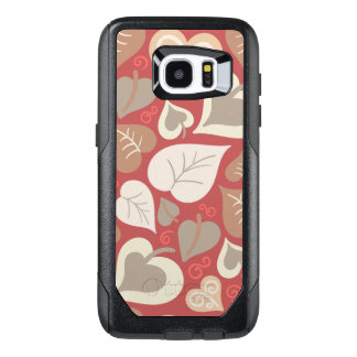 De mooie rode Bloemen wervelen abstract OtterBox Samsung Galaxy S7 Edge Hoesje