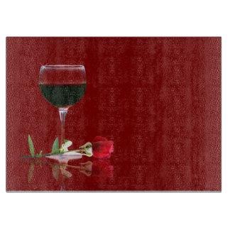 De mooie Rode Wijn & nam Klantgericht Knipsel toe Snijplank