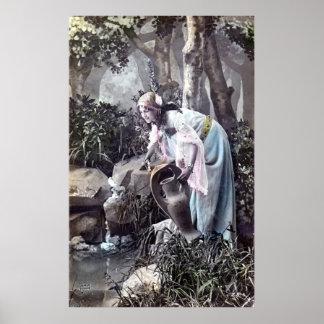 De mooie Romantische Franse 1906 Wijnoogst van het Poster