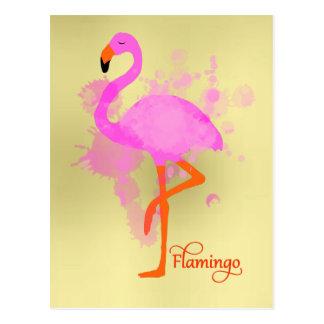 De mooie Roze Artistieke Verf van de Flamingo Briefkaart