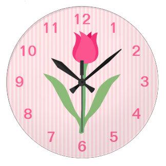 De mooie Roze Bloem van de Tulp Grote Klok
