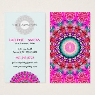 De mooie Roze Caleidoscoop van Boho Mandala Visitekaartjes