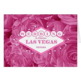De MOOIE ROZE Kaart van het HUWELIJK van Las Vegas