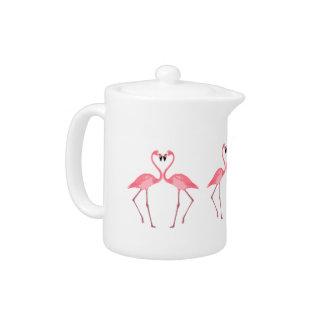 De mooie Roze Liefde van Flamingo's