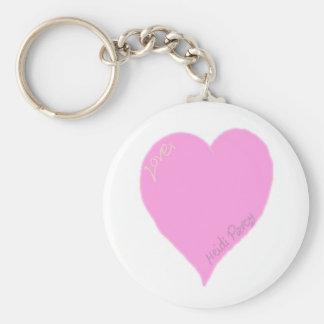 De mooie Roze Sleutelring van het Hart van de Sleutelhanger