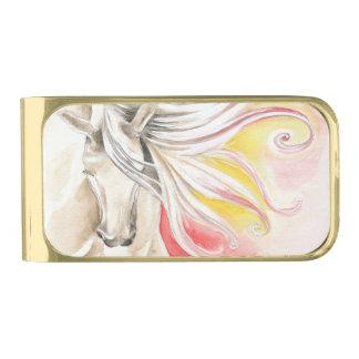 De mooie Spaanse Waterverf van het Paard Vergulde Geldclip