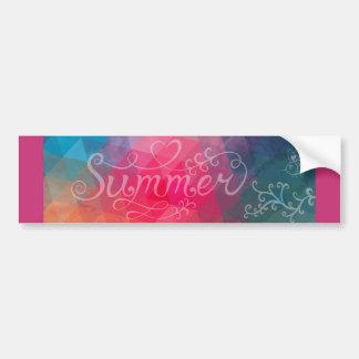 De mooie Sticker van de Bumper van de Zomer