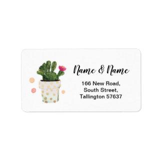 De Mooie Stickers van de Stip van de Cactus van