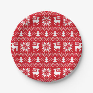 De mooie Sweater van Kerstmis inspireerde Rode Papieren Bordjes