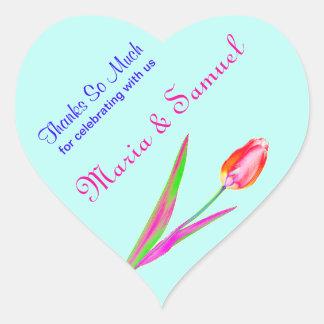 De mooie Tulpen danken u goedkeuren de Stickers