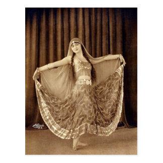 De mooie Vintage Danser van de Buik Briefkaart