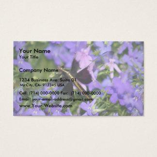 De mooie Vlieg die van de Draak in Paarse Bloemen Visitekaartjes